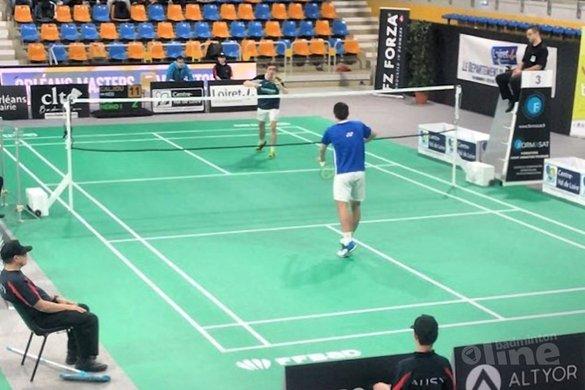 Caljouw ronde verder en De Visch Eijbergen ten onder in Orléans - Badminton Nederland