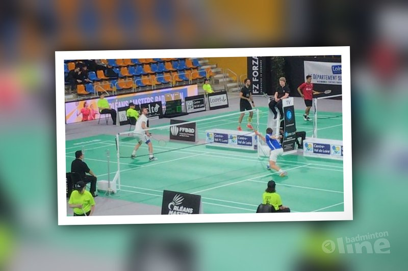 Mark Caljouw stunt tegen Jan O Jorgensen tijdens Orleans Masters 2018 - Badminton Nederland