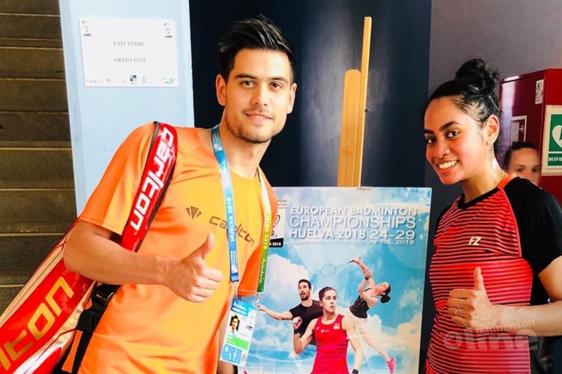 Nick Fransman en Gayle Mahulette naar tweede ronde bij EK Badminton in Spanje - Badminton Nederland