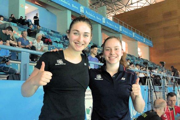 Imke en Debora verrassen Duitse meiden bij EK Badminton 2018 - Badminton Nederland