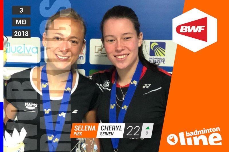 Wereldranglijst van donderdag 3 mei 2018: Selena Piek terug op Olympische koers - Selena Piek / badmintonline.nl