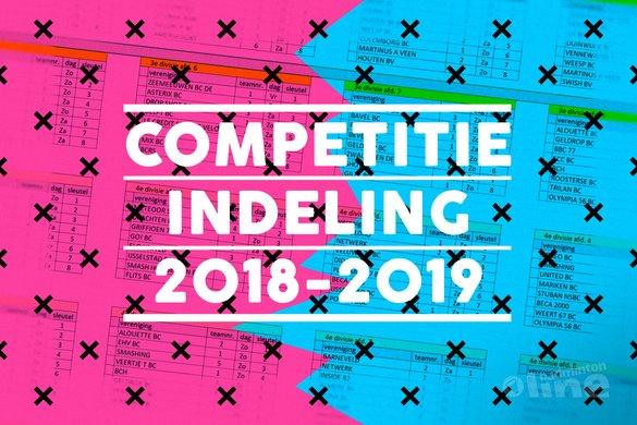 Indeling Bondscompetitie 2018-2019 bekend: in welke poule speel jij? - badmintonline.nl