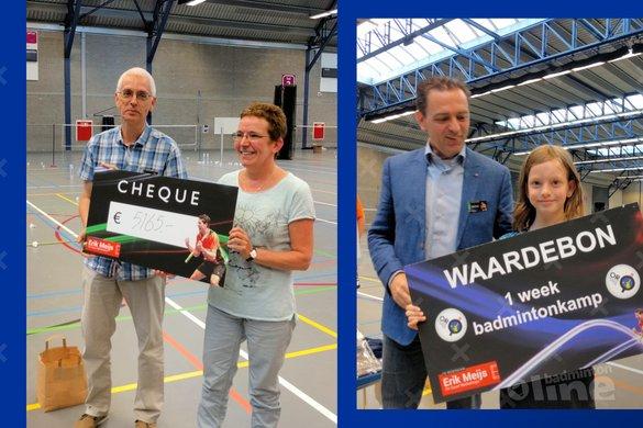 Opbrengst Erik Meijs FUNDRAISER ruim 5.100 euro! - badmintonline.nl