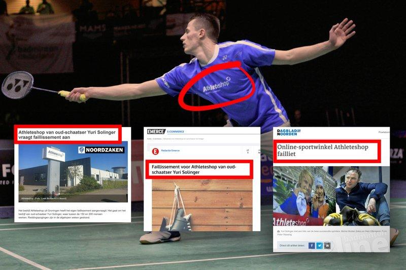 Sponsor Nederlandse topbadmintonner Mark Caljouw failliet? - Geert Berghuis / badmintonline.nl