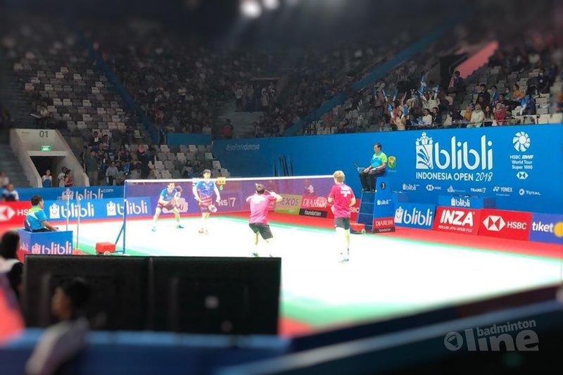 Jelle Maas en Robin Tabeling bereiken tweede ronde Indonesia Open 2018 - Badminton Nederland