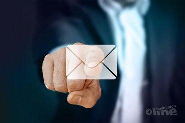 Even je e-mail checken: krijgt jouw badmintonclub onze nieuwsbrief al?