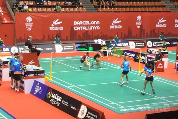 Halve finale Spain Masters in vizier Selena Piek en Cheryl Seinen - Badminton Nederland