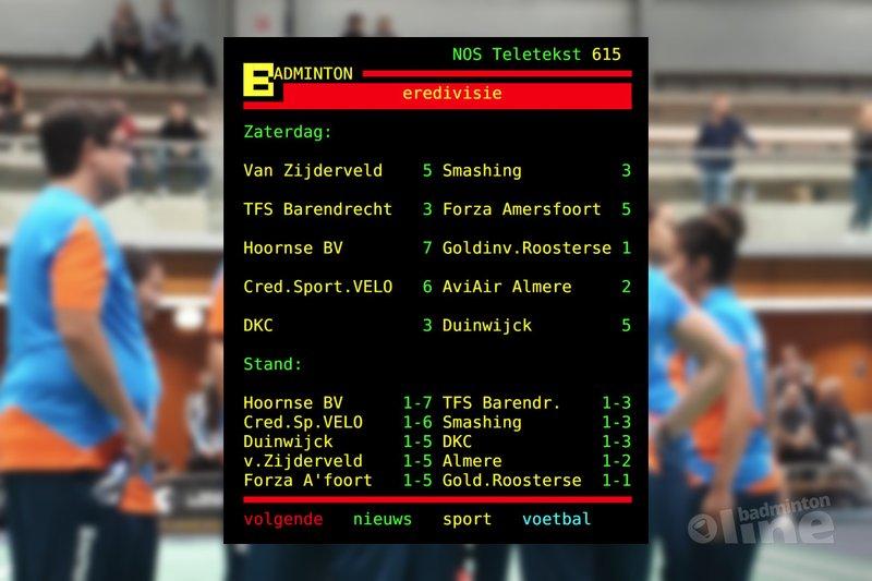 Uniek leiderschap in Nederlandse Badminton Eredivisie voor Hoornse BV - Hoornse BV / NOS Teletekst