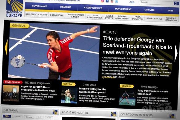 Title defender Georgy van Soerland-Trouerbach: Nice to meet everyone again - Badminton Europe