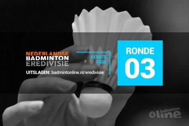 Wedstrijdschema derde speelronde Nederlandse Badminton Eredivisie 2018-2019