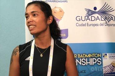 Georgy van Soerland-Trouerbach badmintonkoningin bij de Europese Veteranen Kampioenschappen in Spaanse Guadalajara