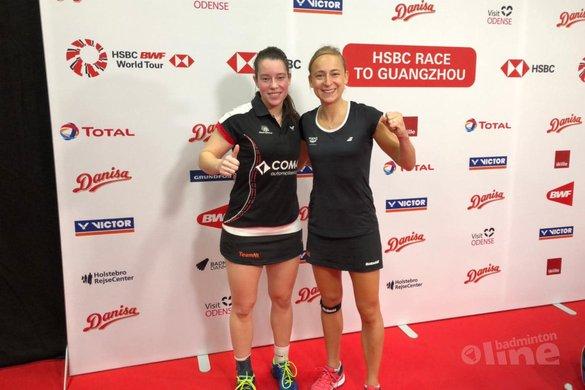 Badmintonkoppel Piek-Seinen stunt in Denemarken met winst op wereldkampioenen - Selena Piek