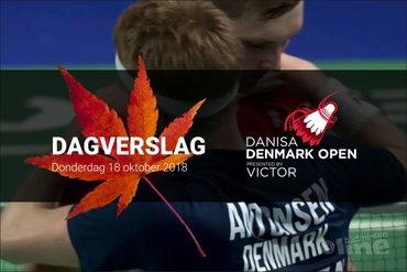 Donderdag Dagverslag Denmark Open 2018: spelerscontracten Deense badmintonbond opgezegd