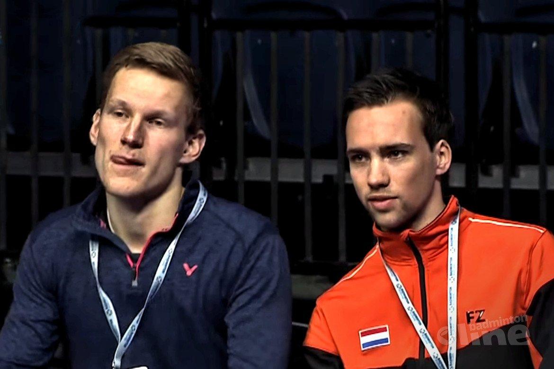 Talentcoach Thomas Wijers op coachstoel tijdens Scottish Open