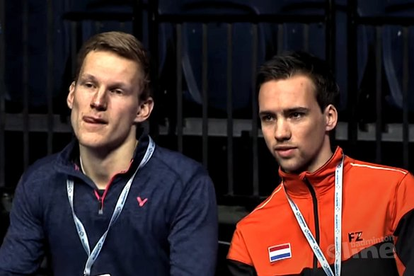 Talentcoach Thomas Wijers op coachstoel tijdens Scottish Open - Badminton Scotland / YouTube