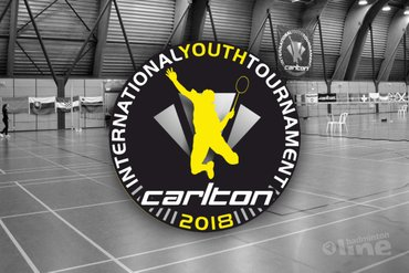 Topbadminton tijdens 42e Carlton International Youth Tournament in Hoensbroek