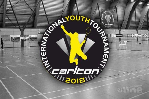 Topbadminton tijdens 42e Carlton International Youth Tournament in Hoensbroek - BC Victoria / badmintonline.nl