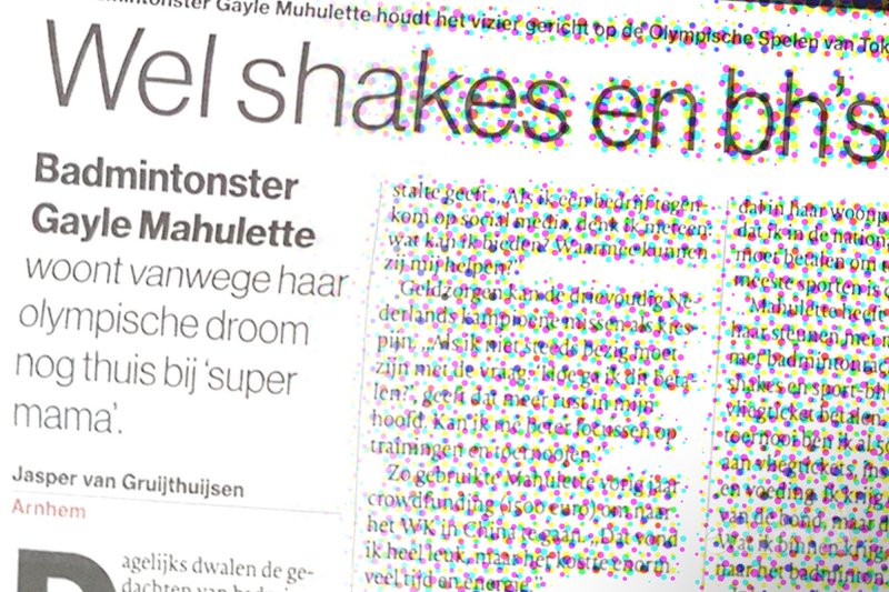 Wel shakes en bh's, geen vliegticket voor badmintonster Gayle Mahulette - De Gelderlander / badmintonline.nl