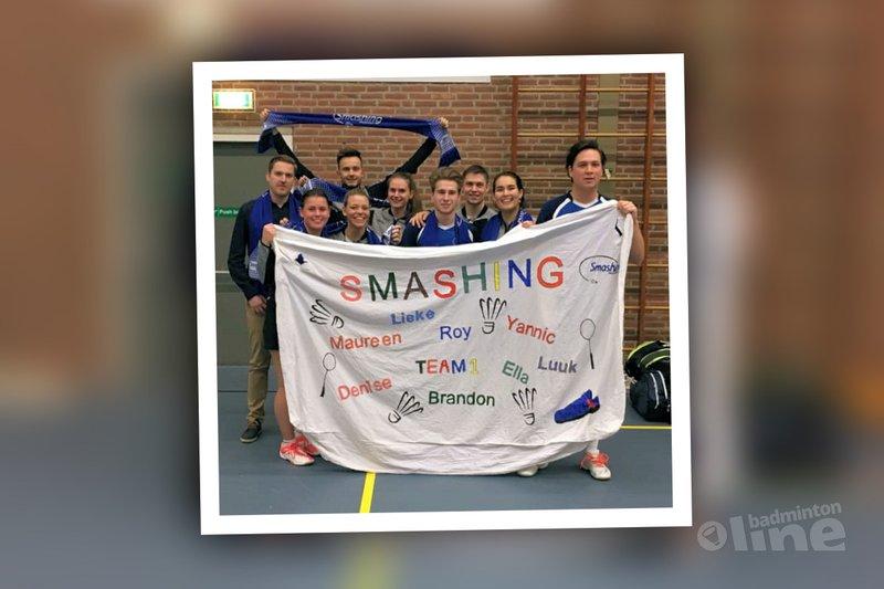 Smashing zegeviert in slotronde Nederlandse Badminton Eredivisie - BC Smashing