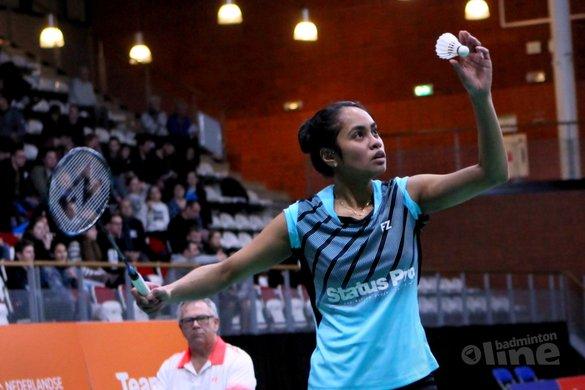 Topbadmintonner Gayle Mahulette kopvrouw bij EK Gemengde Teams 2019 in Kopenhagen - badmintonenzo.net