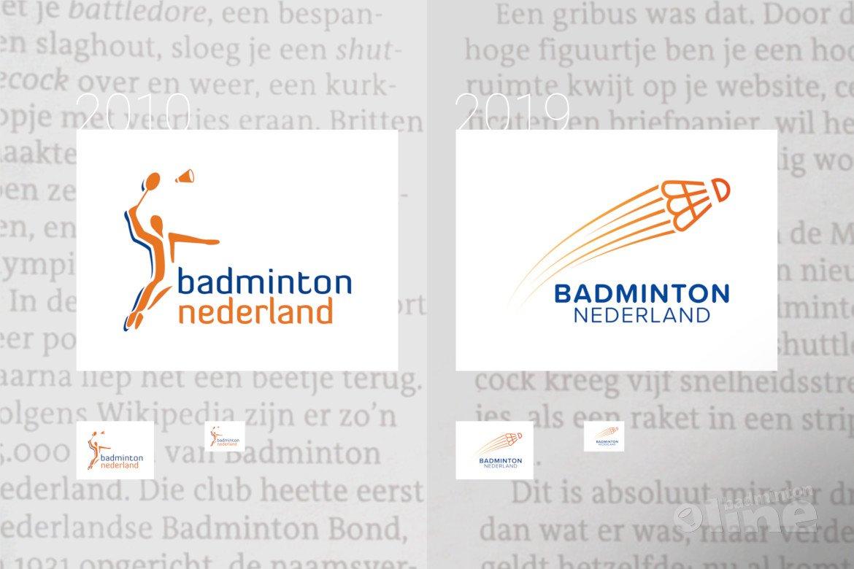 Het nieuwe logo van Badminton Nederland is ook suf