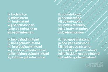 werkwoord badmintonnen