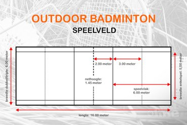 speelveld outdoor badminton