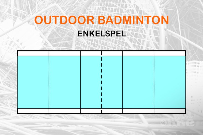 outdoor badminton enkelspel