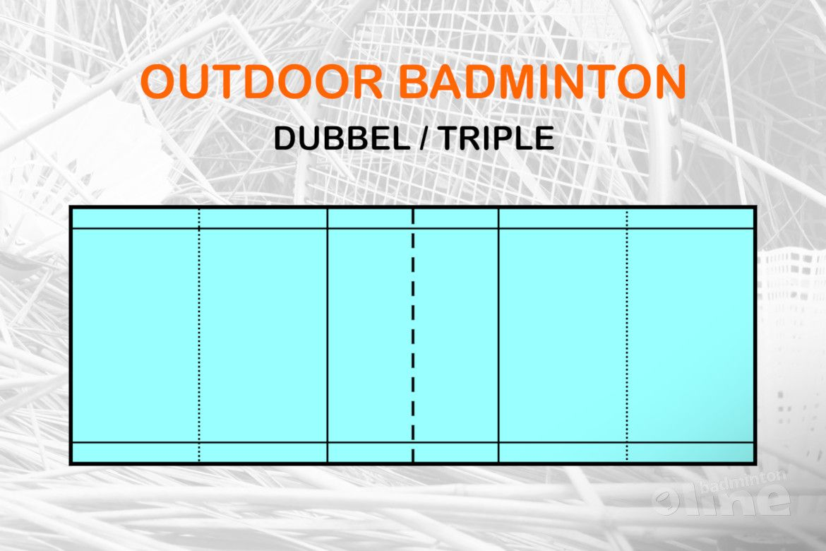 outdoor badminton dubbelspel