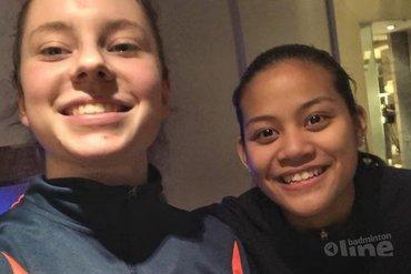 Finale voor Alyssa Tirtosentono en Debora Jille bij de Dutch International 2019