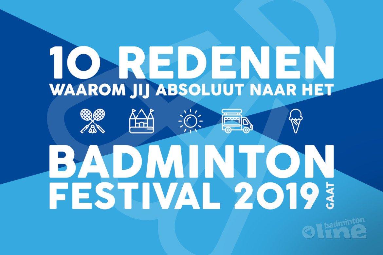 10 redenen waarom jij absoluut naar het Badminton Festival 2019 komt!