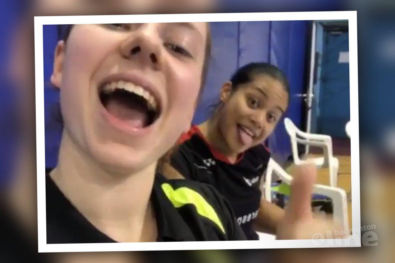 Weer finale voor jeugdige badmintonners Debora Jille en Alyssa Tirtosentono