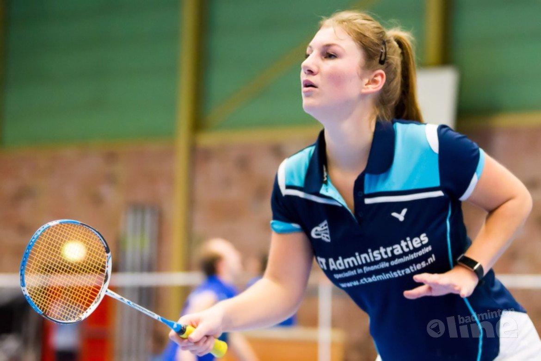 Badmintonspeler Leoni Boeije lokale favoriet bij Conquesto-toernooi in Zoetermeer