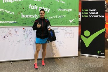 Megan Hollander in halve finales Yonex Canada Para-badminton International 2019