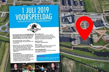 Voorspeeldag Badmintonschool Barendrecht op maandagavond 1 juli 2019