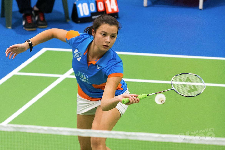 Badmintonteam Serge Mayer overklast Amersfoort tijdens kick-off Nederlandse Badminton Eredivisie