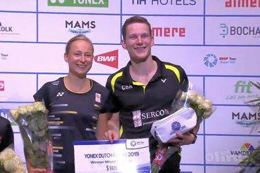 Gemengddubbel-titel Yonex Dutch Open voor Robin Tabeling en Selena Piek