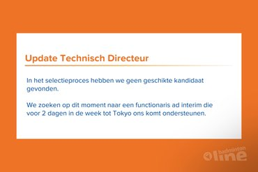 Manager Ilse Vaessen plaatsvervangend technisch directeur Badminton Nederland?