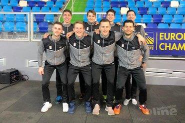 Historische zilveren medaille voor Nederlands mannen bij EK Badminton