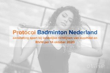 Badmintonprotocol Badminton Nederland per 14 oktober 2020