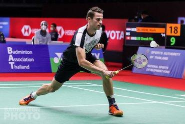Badmintonner Mark Caljouw verliest thriller op Toyota Thailand Open