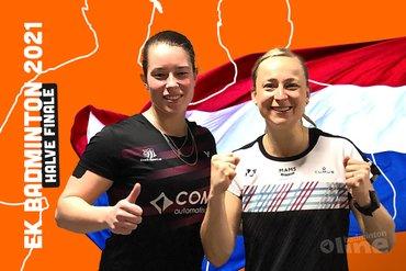 Cheryl Seinen en Selena Piek naar halve finale EK Badminton