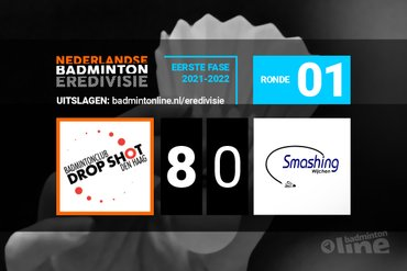 Drop Shot dominant in openingsronde Nederlandse Badminton Eredivisie