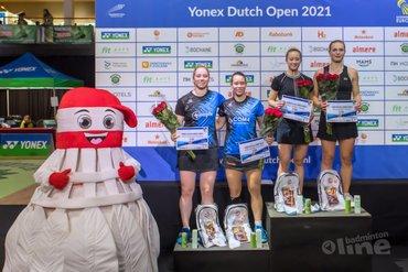 Tweede plaatsen voor Nederlandse badmintonners op finaledag Yonex Dutch Open