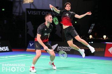 Woensdag bij de Denmark Open 2021: Ruben en Ties beste herendubbel van Nederland