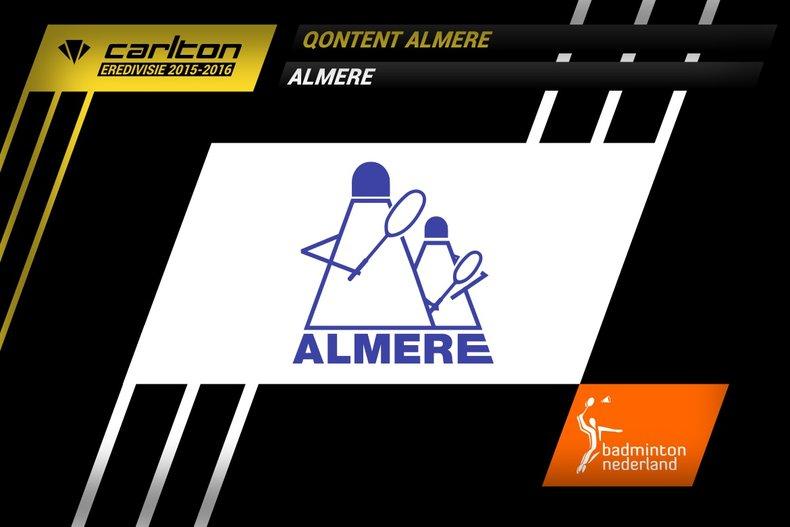 Deze afbeelding hoort bij 'Oorverdovende winst voor Almere' en is gemaakt door badmintonline.nl