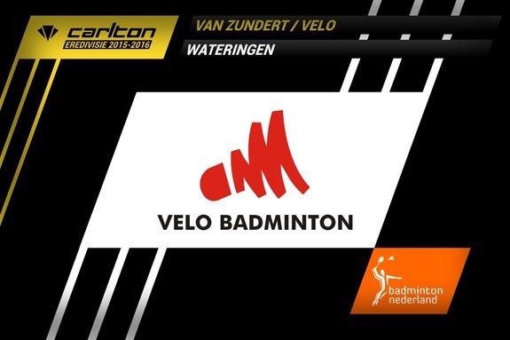 Deze afbeelding hoort bij 'Derby tegen landskampioen gewonnen door VELO' en is gemaakt door badmintonline.nl