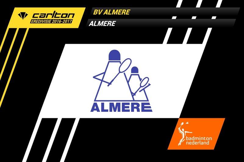 Almere ontvangt TFS Barendrecht op zaterdag 5 november 2016 - badmintonline.nl