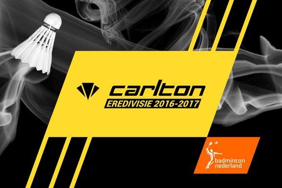Programma dubbelweekend Carlton Eredivisie: 21 en 22 januari 2017 - badmintonline.nl
