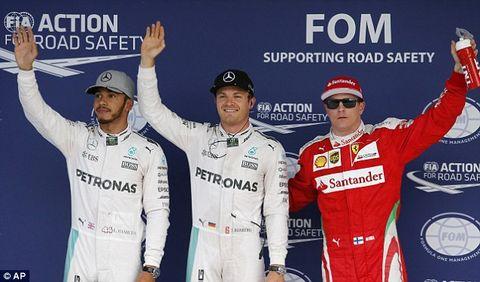 【F1日本站】排位賽:Rosberg生涯第30次頭位 「黑帝」Hamilton以0.013秒排第二位